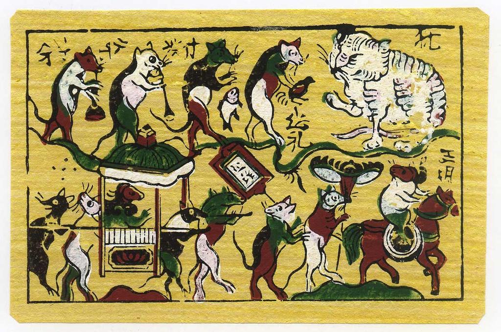 Điều ít biết về tranh ngày Tết của người Việt xưa