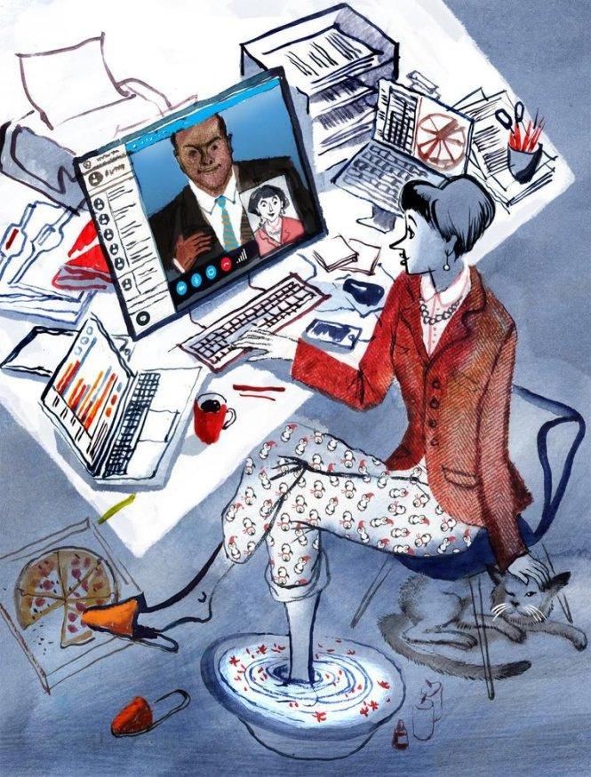 Làm việc ở nhà: Coi chừng 'ở' nhiều hơn 'làm'